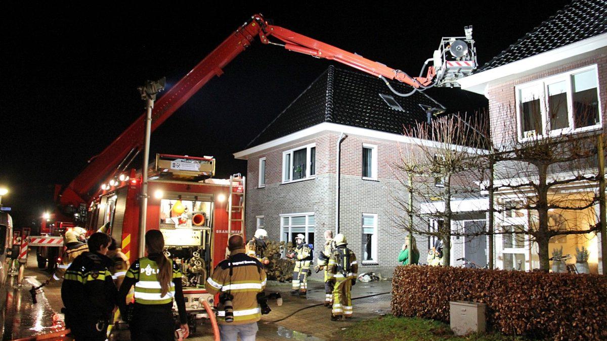 Brand op zolderverdieping in  een woning aan de Haverveld te Staphorst