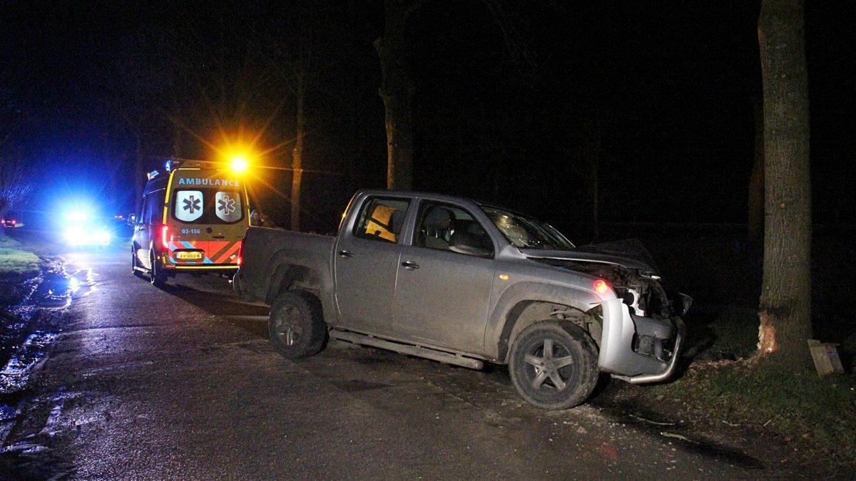 Eenzijdig verkeersongeval op de Meenteweg nabij Meppel