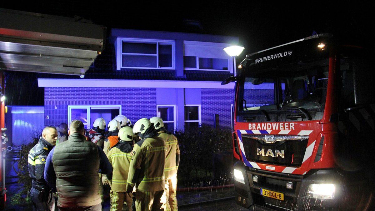 Brand in woning aan de Pondspeer in Ruinerwold