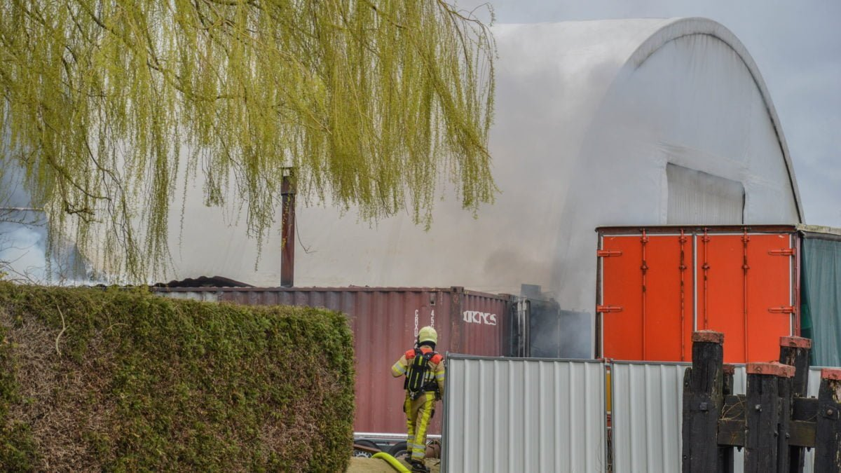 Grote brand in Marknesse snel onder controle