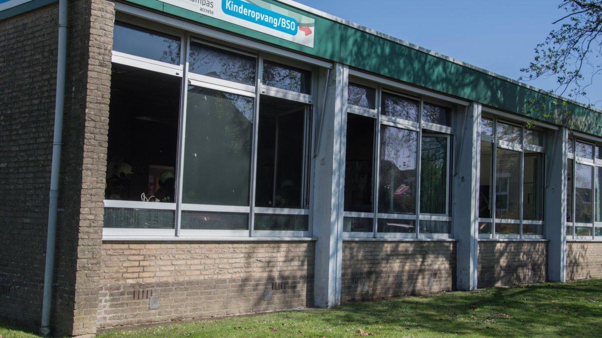 Brand in lokaal Kindcentrum Het Kompas in Vollenhove snel bedwongen