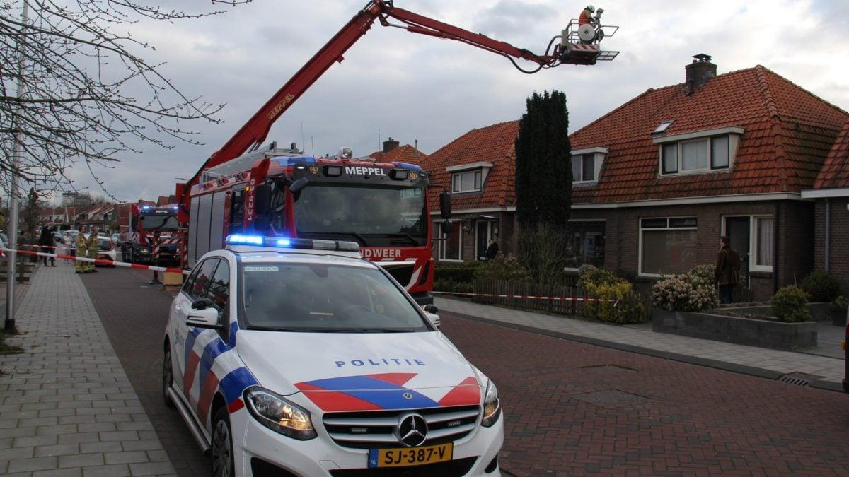 Schoorsteenbrand aan de Nijeveenseweg in Meppel