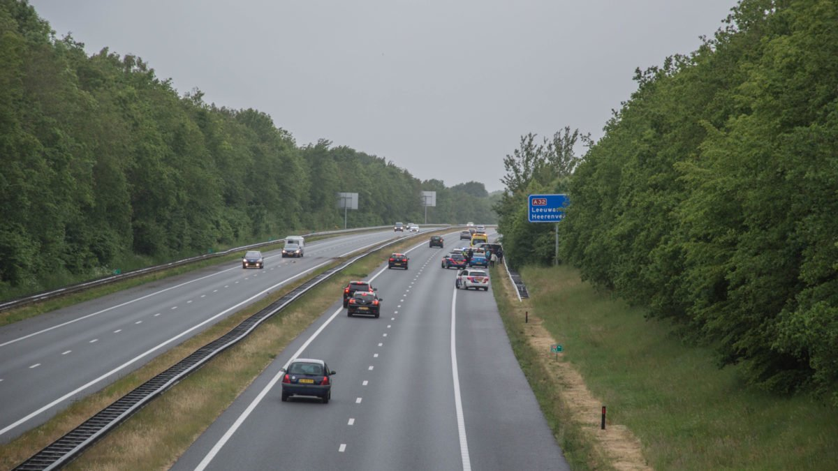 Geen gewonden bij ongeval op A32 nabij Steenwijk