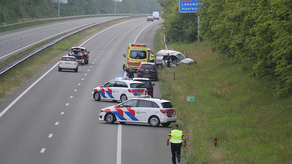 Eenzijdig verkeersongeval op de A32 bij De Pol