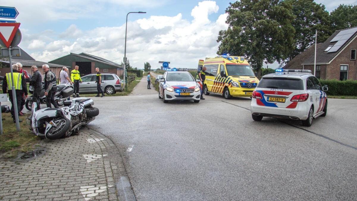 Motorrijder gewond bij ongeval in Nijeveen