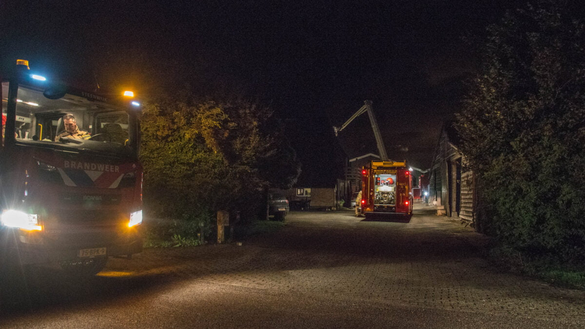 Asbest vrijgekomen bij stalbrand in Scheerwolde