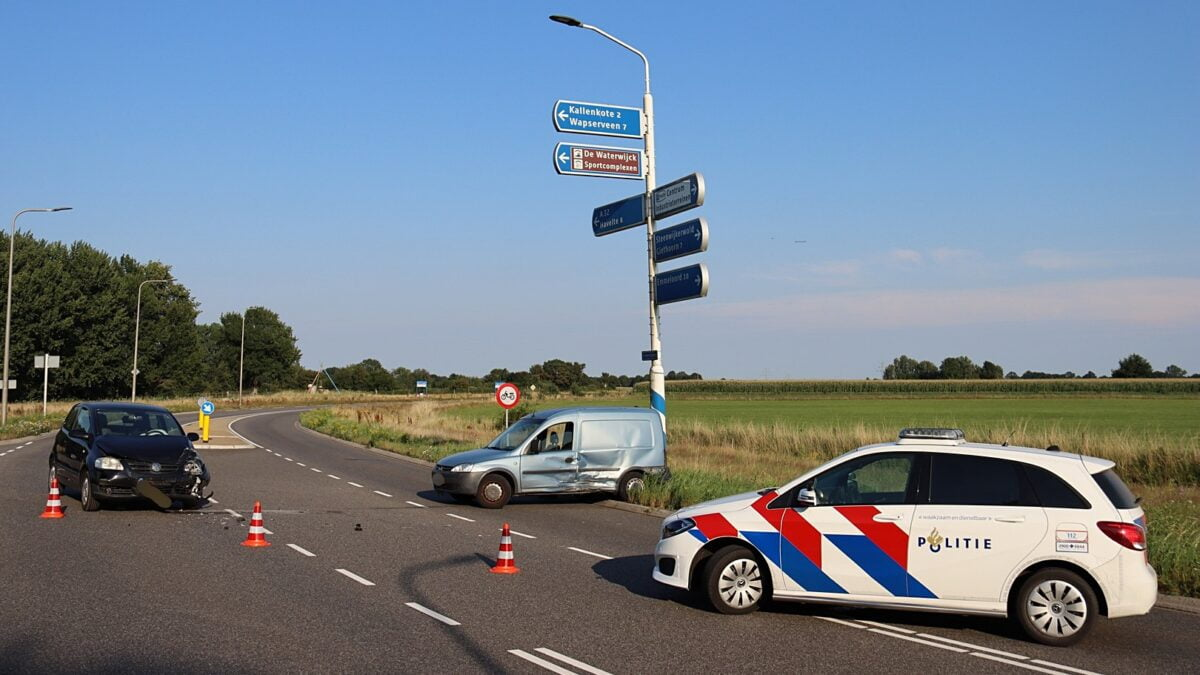 Ongeval op de Schansweg in Steenwijk