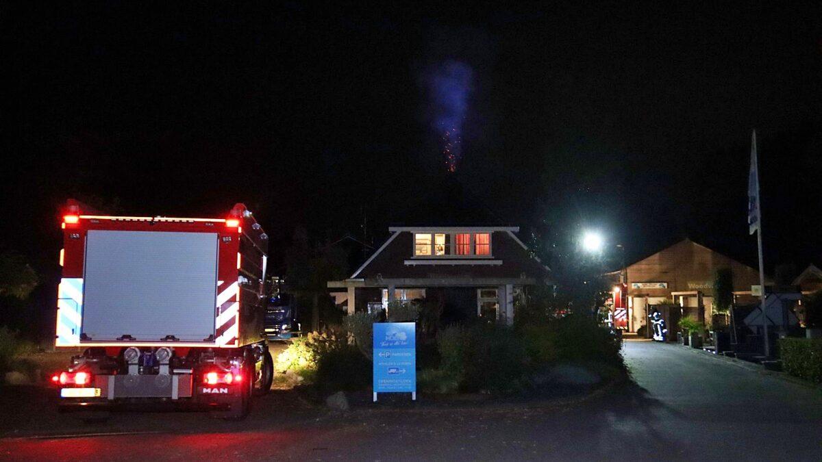 Schoorsteenbrand aan de Eursingelaan in Havelte