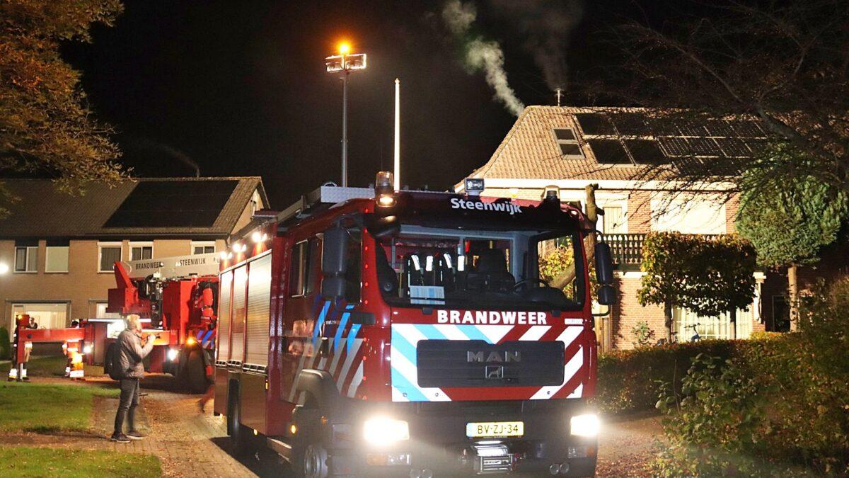 Schoorsteenbrand aan de Nieuwe Gagels in Steenwijk