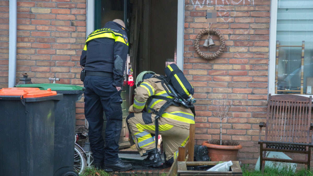 Brandstichting in woning in Steenwijk