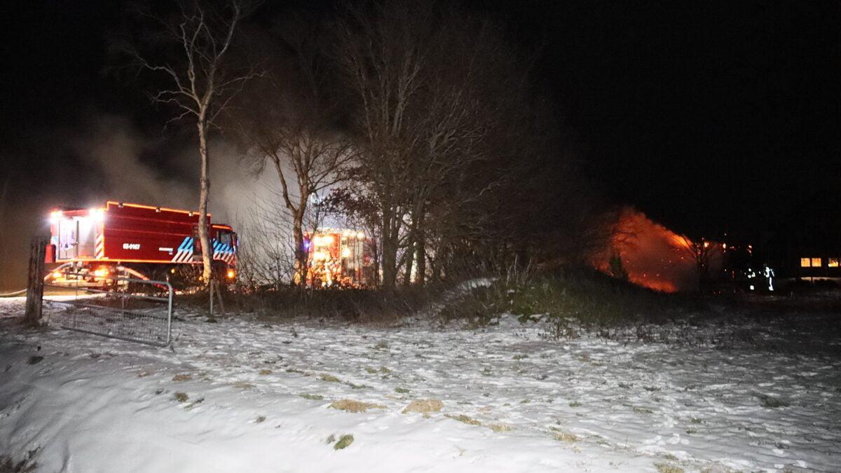 Chalet in brand aan de Schipslootweg in Wapserveen