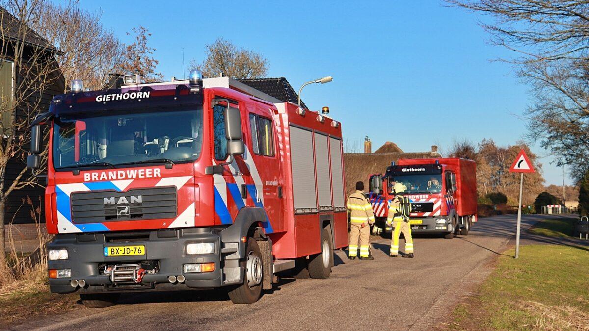 Tuinhuisje afgebrand in natuurgebied de Wieden bij Giethoorn