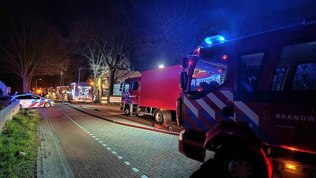 Brand bij horeca onderneming aan de Veneweg in Wanneperveen.