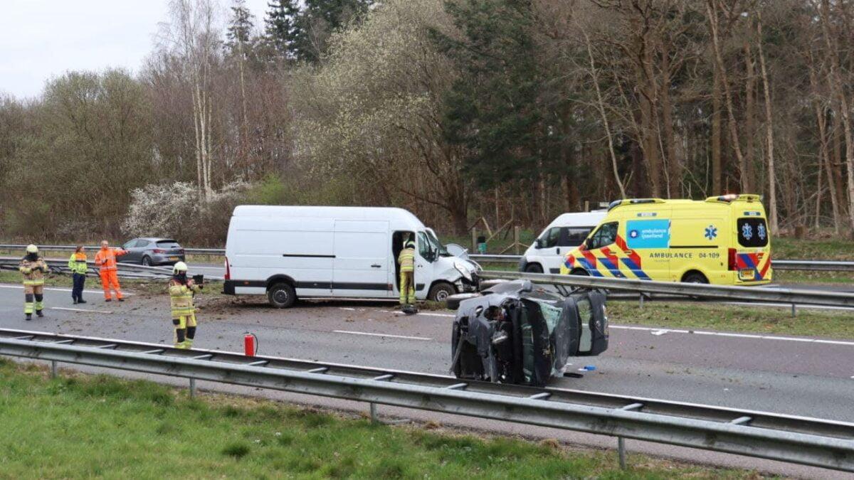 34 jarige bestuurder uit Ede aangehouden na ongeval op A32