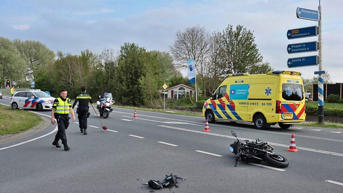 Motorrijder gewond bij aanrijding Blauwe Hand