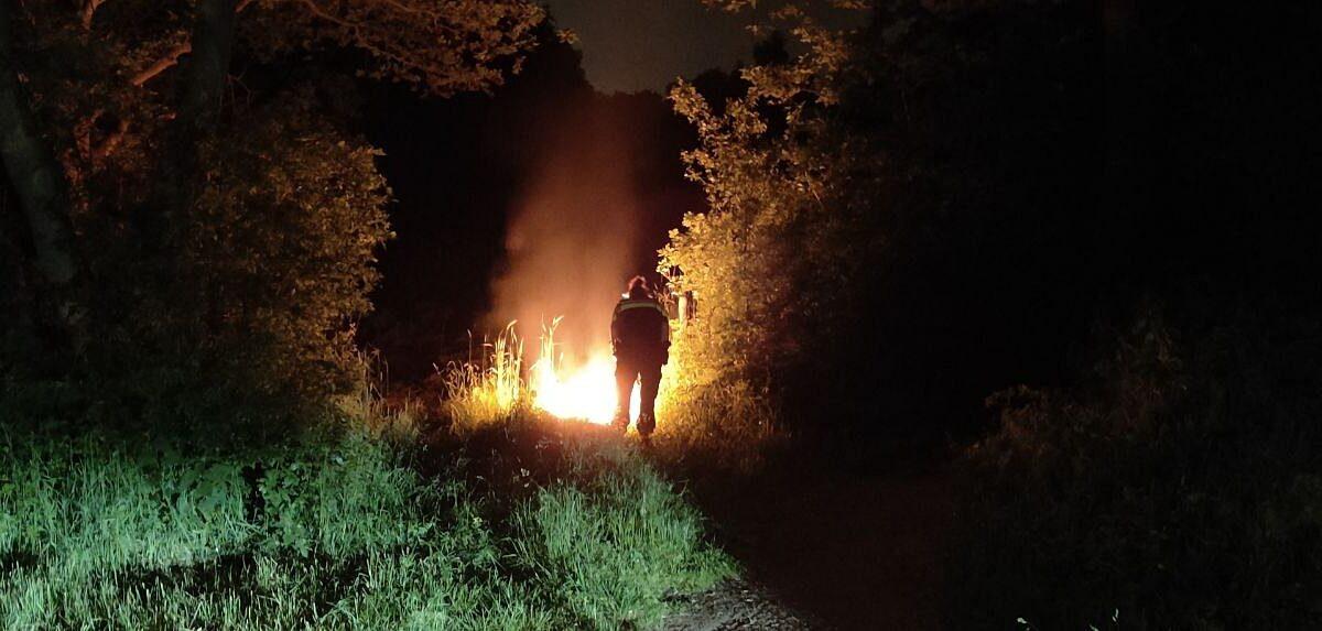Buitenbrand aan de Kallenkoterallee in Steenwijk