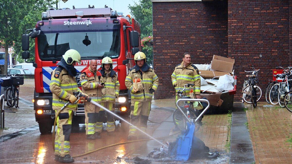 Container in brand gestoken aan de Neerwoldstraat in Steenwijk