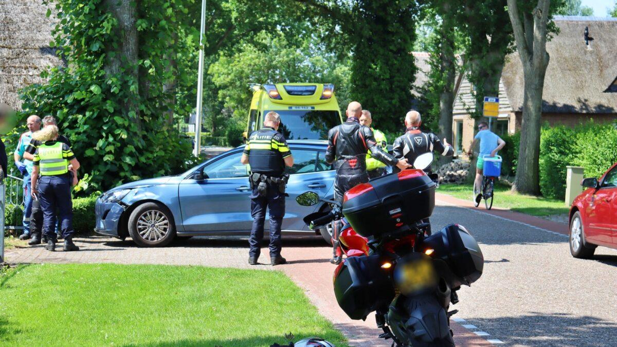 Ongeval op de Veneweg in Wanneperveen