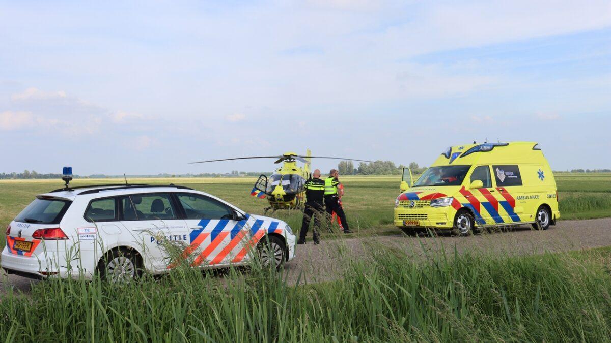 Fietser raakt gewond bij aanrijding in Meppel en mobiel medisch team landt in Havelte