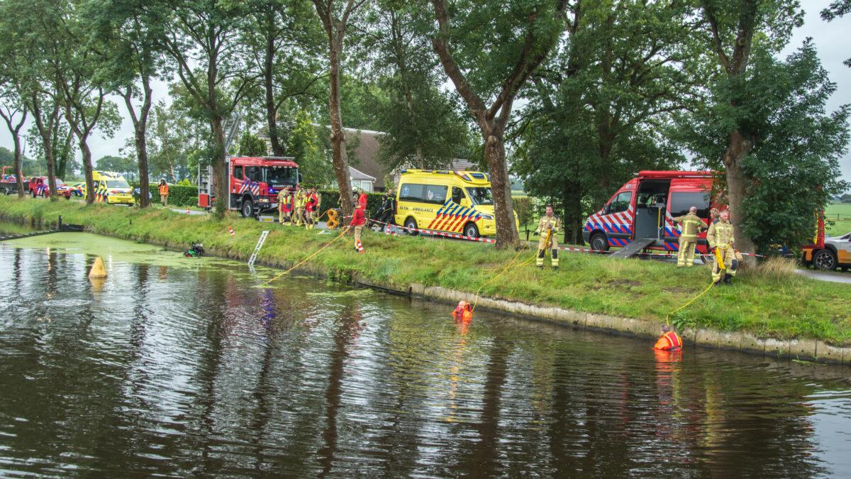 Grote zoekactie naar bestuurder van te water geraakte motor in Havelte