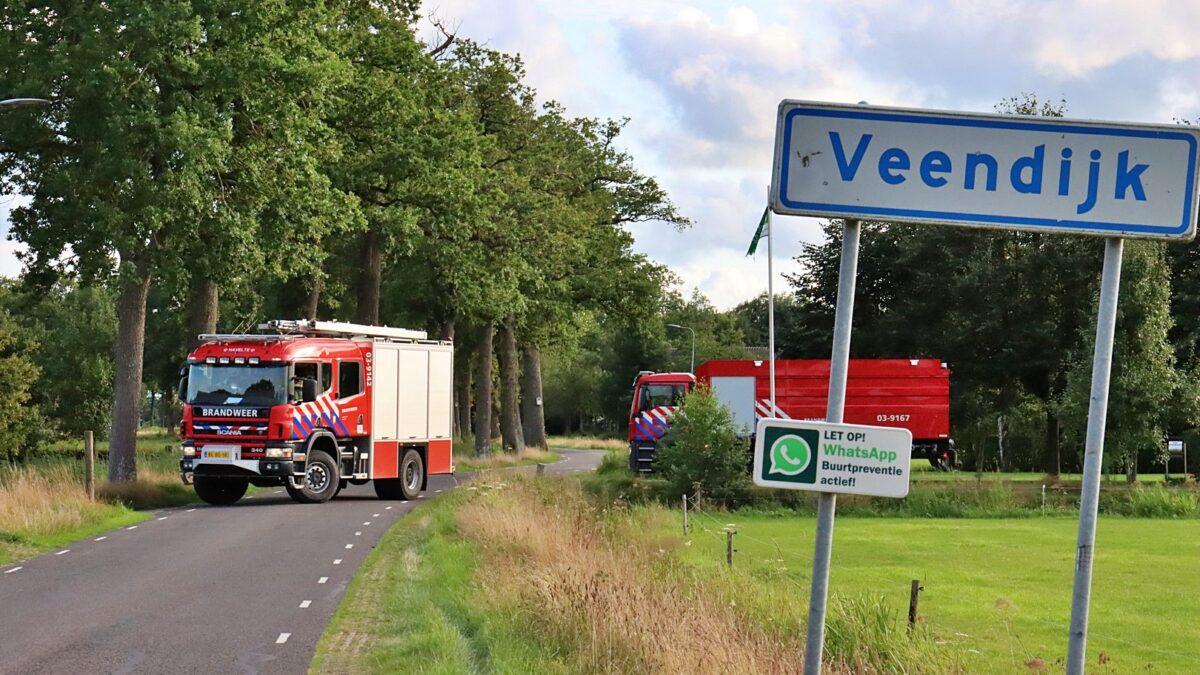 Hooibroei in schuur aan de Veendijk in Havelte
