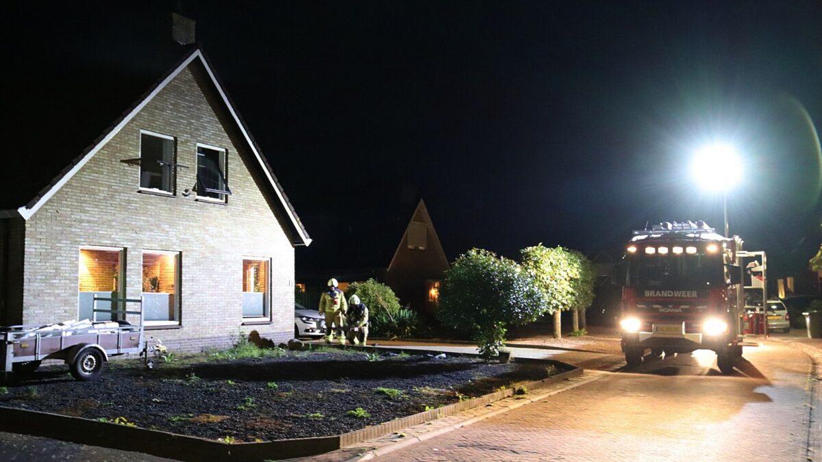 Brandweer Havelte voert nacontrole uit in Darp